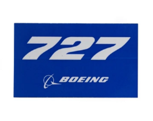 727 Blue Sticker