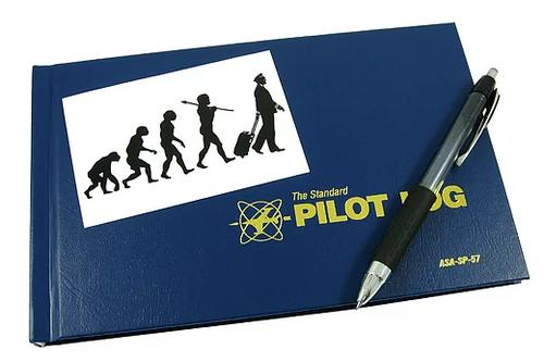 "Sticker, Evolution Of The Pilot, 4.25"" x 2.75"""