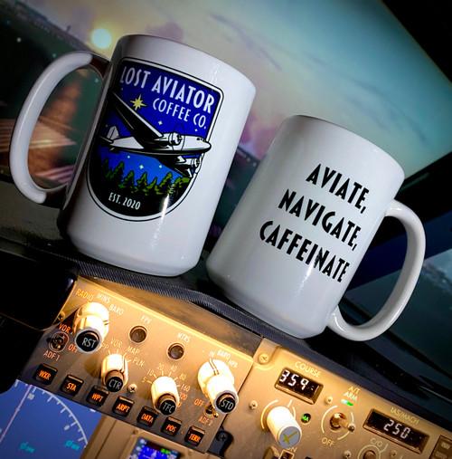 Aviate, Navigate, Caffeinate Mug