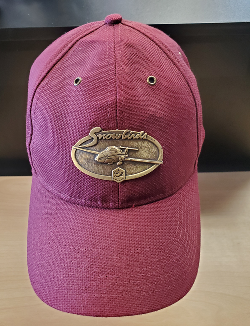 Snowbirds Brass Cap (Burgundy)