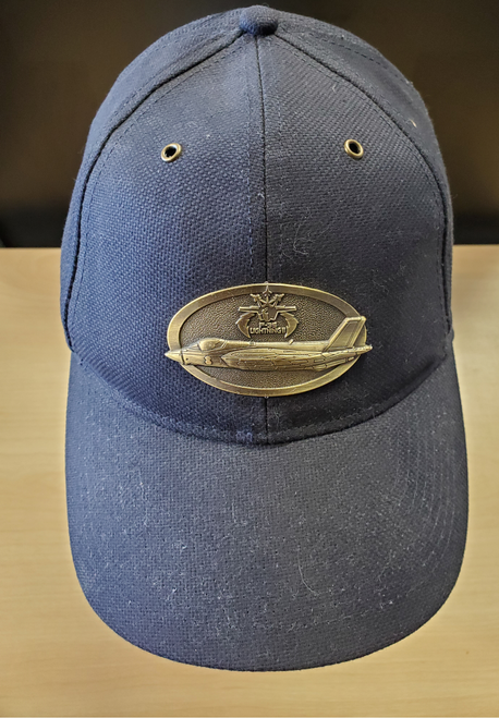 F-35 Lightning Brass Cap (Navy Blue)