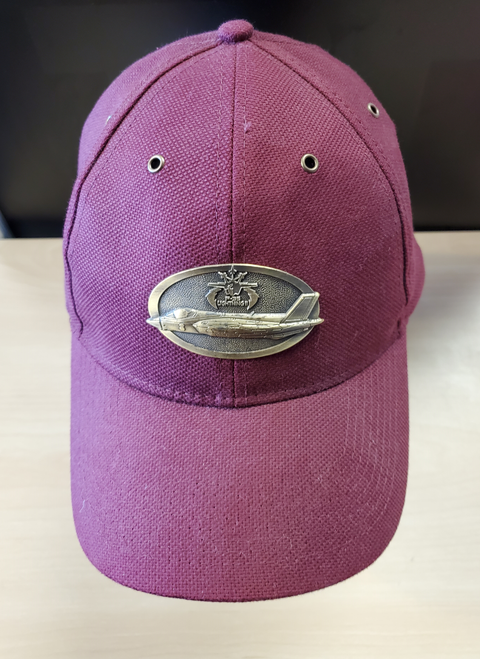 F-35 Lightning Brass Cap (Burgundy)