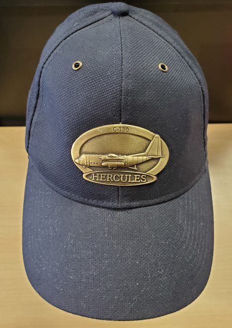 C-130 Hercules Brass Cap (Navy Blue)