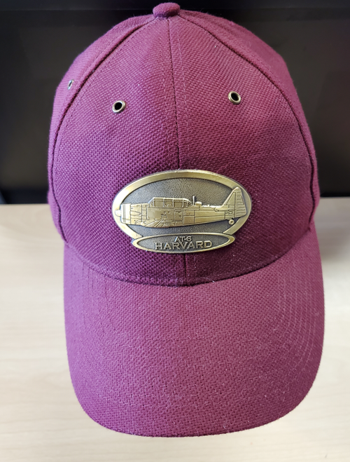 AT-6 Harvard Brass Cap (Burgundy )