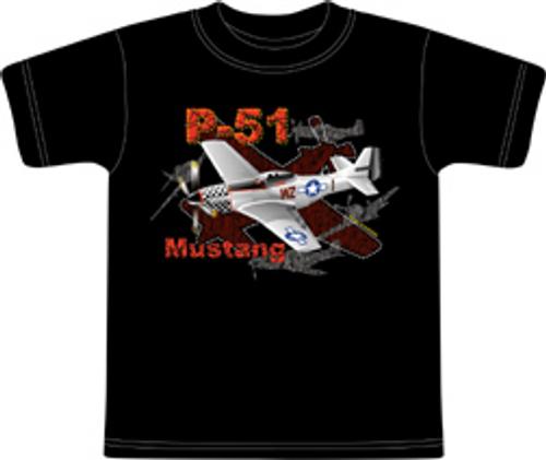 Metallic Mustang Youth  T-Shirt