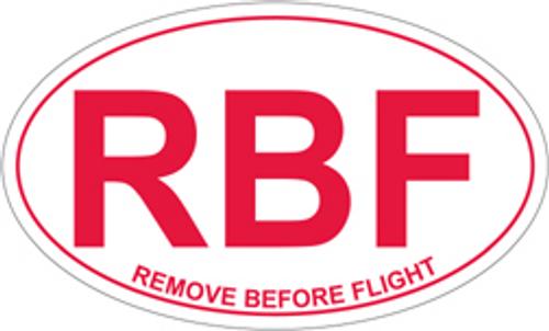 Remove Before Flight Euro Sticker