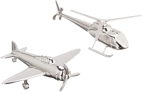 Airplane Helicopter Salt & Pepper Shaker Set