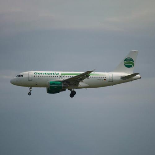 AviationTag Airbus A319 Keychain  - D-ASTZ - SPLIT GREEN EDITION