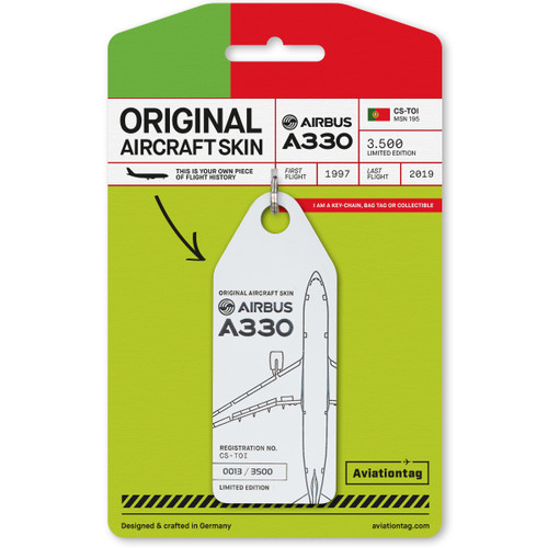 AviationTag Airbus A330-200 Keychain  - CS-TOI