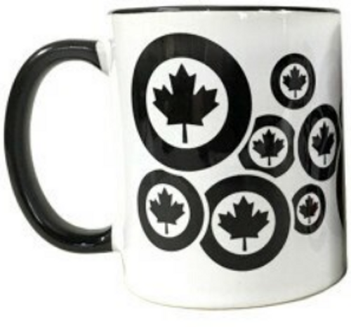 RCAF Roundel Patterned Mug (BLACK AND WHITE)
