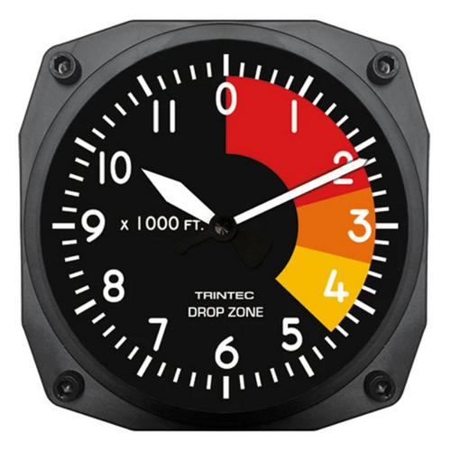 "6"" DZ-06 drop zone clock"