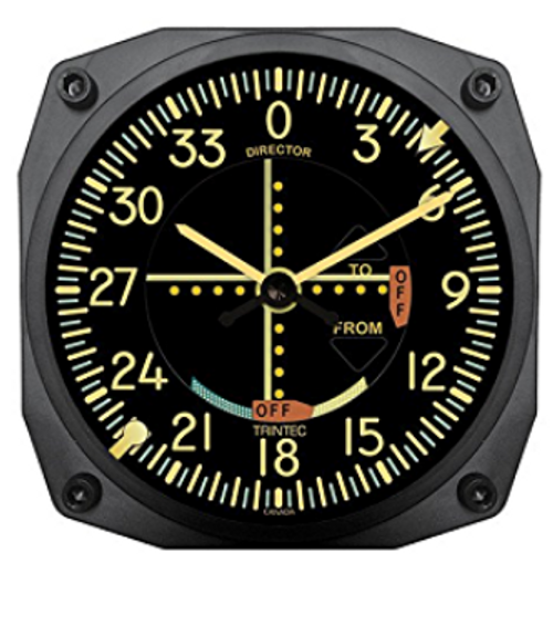"6"" vintage VOR Instrument Style Clock"