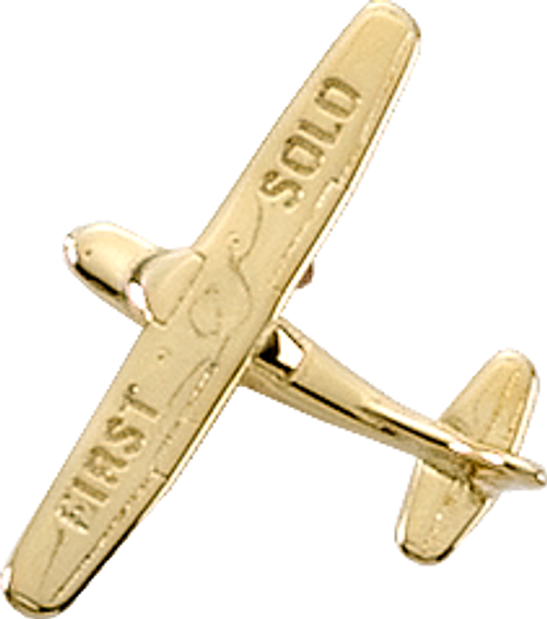 Cessna 172 First Solo Premium Lapel Pin - Gold