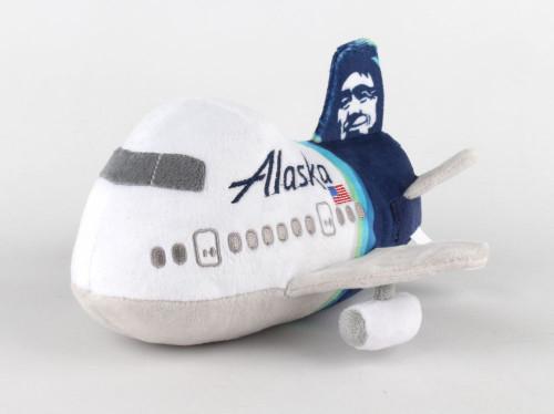 Alaska Airlines Stuffed Toy w/Sound