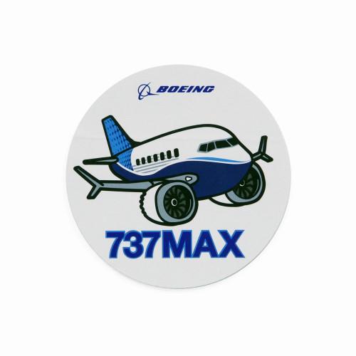 737 Max Pudgy Sticker