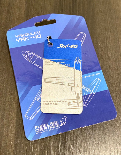 Fuselage Creations YAK-40 Key Tag (Split Color)