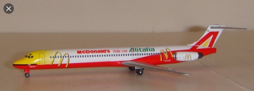 Dragonwings Alitalia MD-82 McDonalds