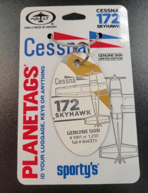 PlaneTags Cessna C-172 Keychain  - N46373 - Split Color