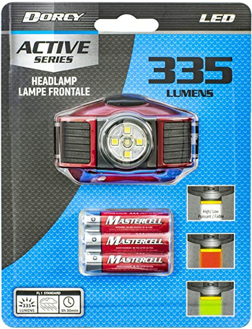 Dorcy 335 Lumen LED Headlamp (RED)