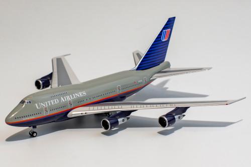 "NG Models United Airlines 747SP ""Battleship Livery"""