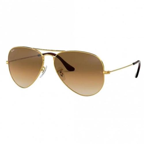 Ray-Ban Aviator Gold Frame Non-Polarized Brown Gradient Lens