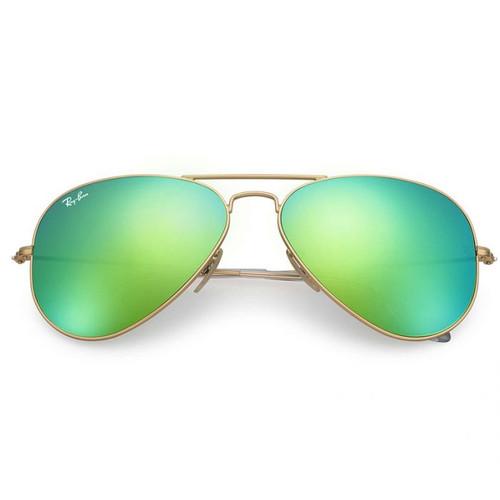 Ray-Ban Aviator Gold Frame Green Flash Sunglasses