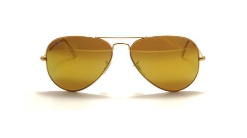 Ray-Ban Aviator Gold Frame Yellow Flash Sunglasses