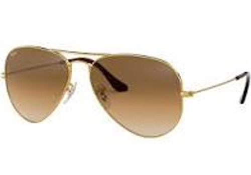 Ray-Ban Cockpit Gold Frame Brown Gradient Sunglasses