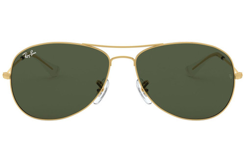 Ray-Ban Cockpit Gold Frame Classic Green Sunglasses