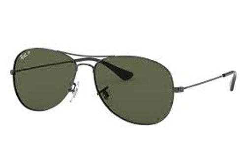 Ray-Ban Cockpit Gunmetal Frame Classic Green Sunglasses