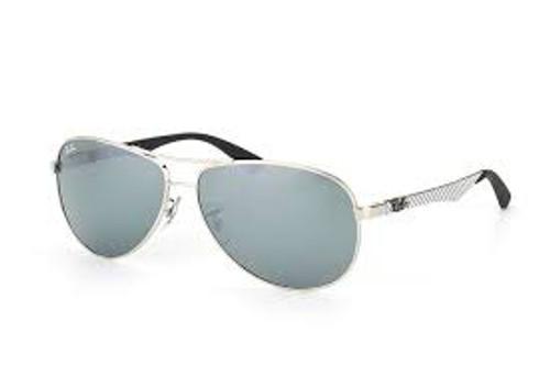 Ray-Ban Pilot Carbon Fibre and Silver Frame Sunglasses