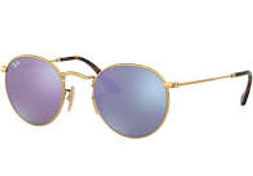 Ray-Ban Gold Frame Lilac Mirror Sunglasses
