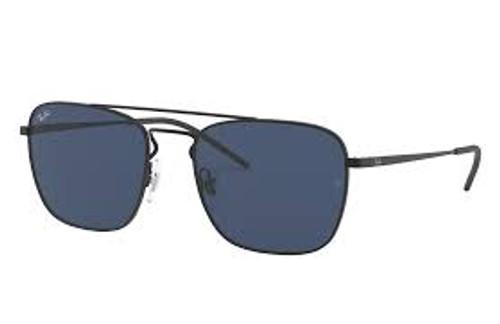 Ray-Ban Square Black Frame Blue Classic Sunglasses