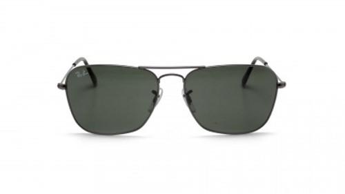 Ray-Ban Caravan Gunmetal Frame Green Classic Sunglasses