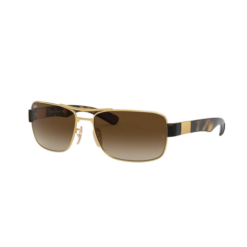 Ray-Ban Square Tortoise Frame Brown Gradient Sunglasses