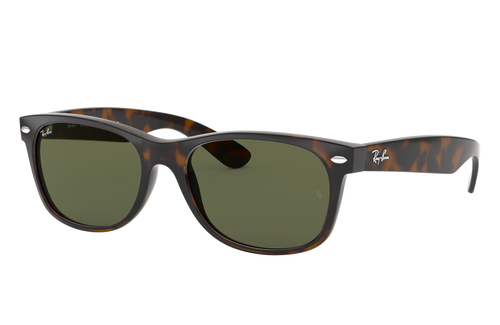 Ray-Ban New Wayfarer Tortoise Frame Green Classic Sunglasses