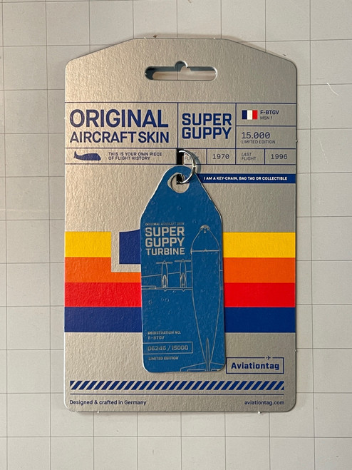 AviationTag Super Guppy Keychain - Blue