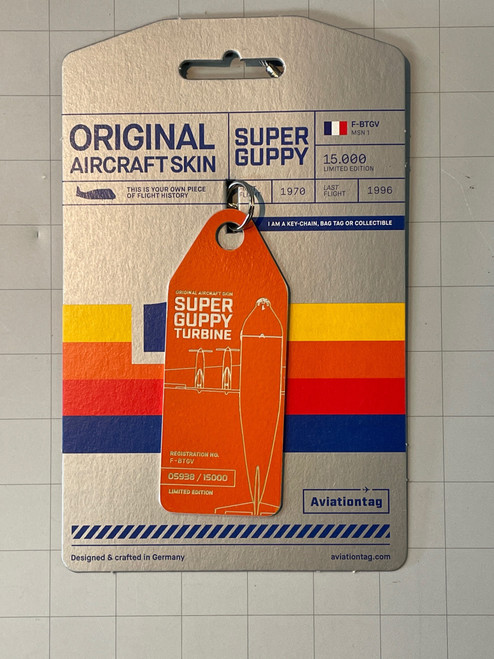 AviationTag Super Guppy Keychain - Orange