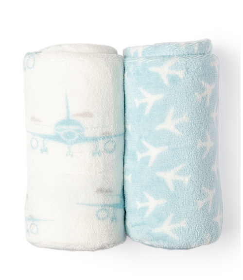 Airplane Stroller Blanket Set