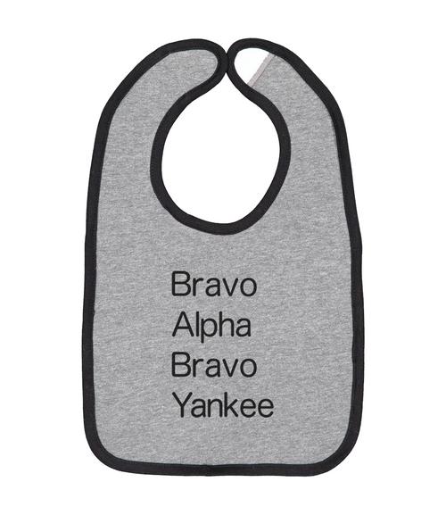 Bravo Alpha Bravo Yankee Bib