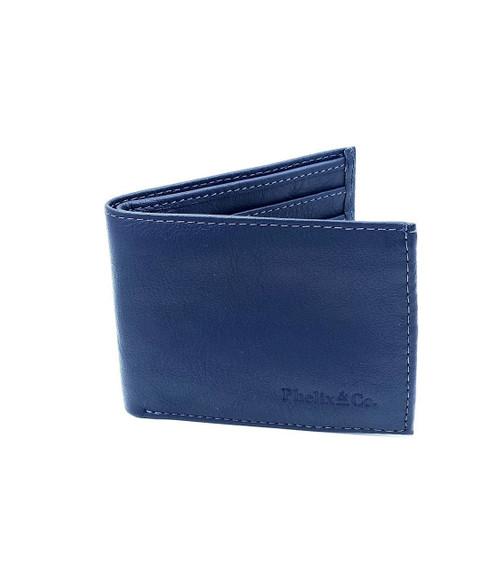 The Dash Bi-Fold Leather Wallet - Atlantic Blue