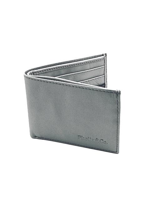 The Dash Bi-Fold Leather Wallet - Cloud Grey