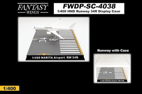 Fantasy Wings 1/400 Airport Runway Display Case (Narita International Airport Runway 34R)