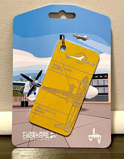 Fuselage Creations AN-26SH Key Tag - Yellow
