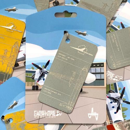 Fuselage Creations AN-26SH Key Tag - Grey