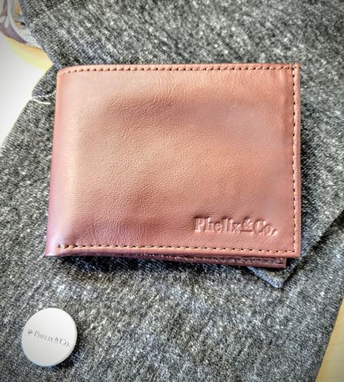 The Dash Bi-Fold Leather Wallet - Retro Burgundy
