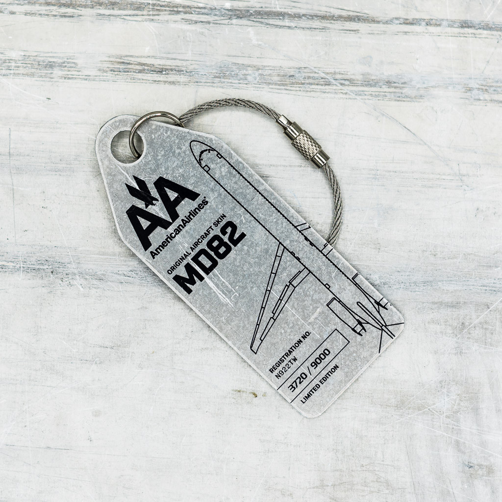 American Airlines MD-80 Keychain