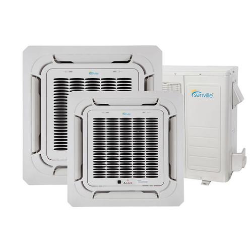 Climatiseur de plafond à deux zones de 28000 BTU - Pompe à chaleur - SENA/30HF/DIC