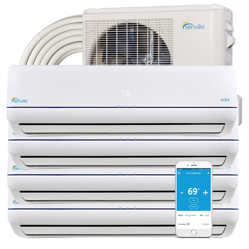 48000 BTU Quad Zone Mini Split Air Conditioner - Heat Pump - SENA/48HF/Q