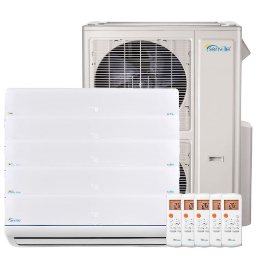 48000 BTU Five Zone Mini Split Air Conditioner - Heat Pump - SENA/48HF/F